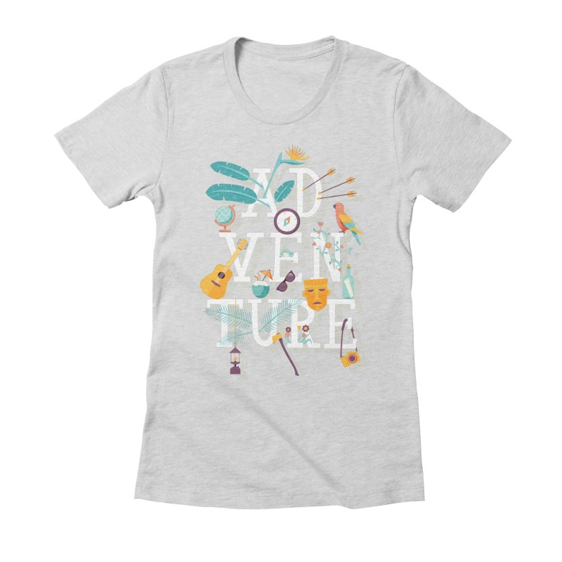 Adventure Women's Fitted T-Shirt by wharton's Artist Shop