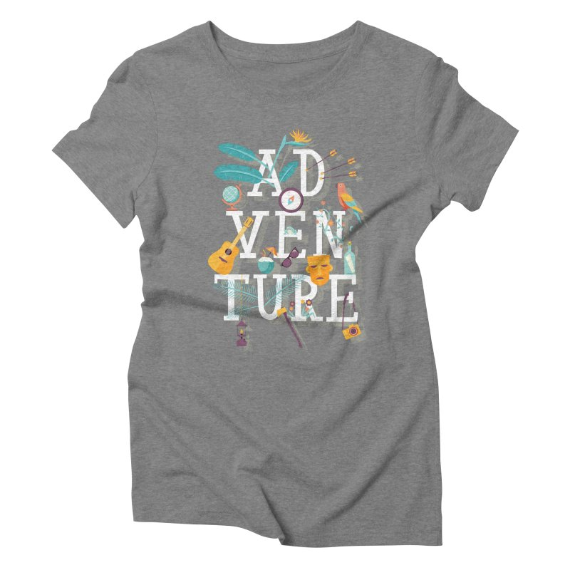 Adventure Women's Triblend T-shirt by wharton's Artist Shop