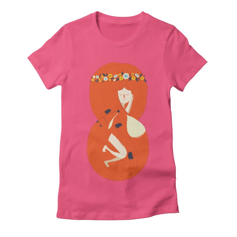 Foxy Lady Women's Fitted T-Shirt by wharton's Artist Shop