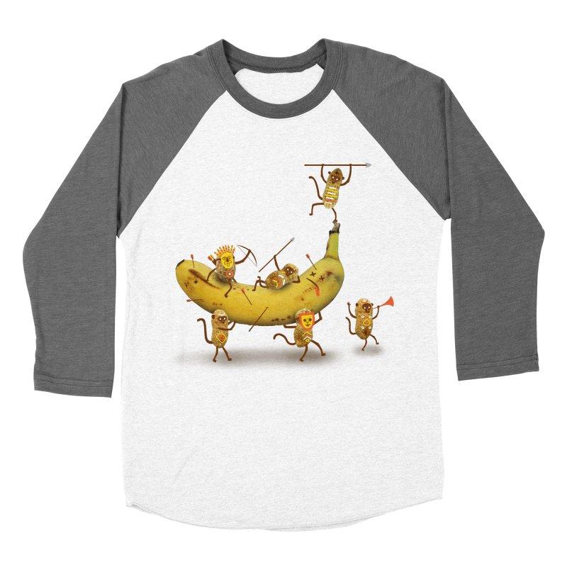 Nuts Men's Baseball Triblend T-Shirt by wharton's Artist Shop