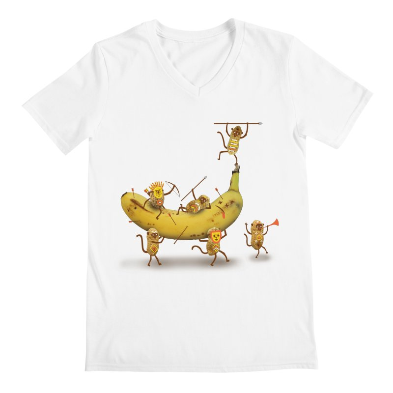 Nuts Men's V-Neck by wharton's Artist Shop
