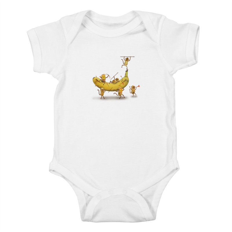 Nuts Kids Baby Bodysuit by wharton's Artist Shop