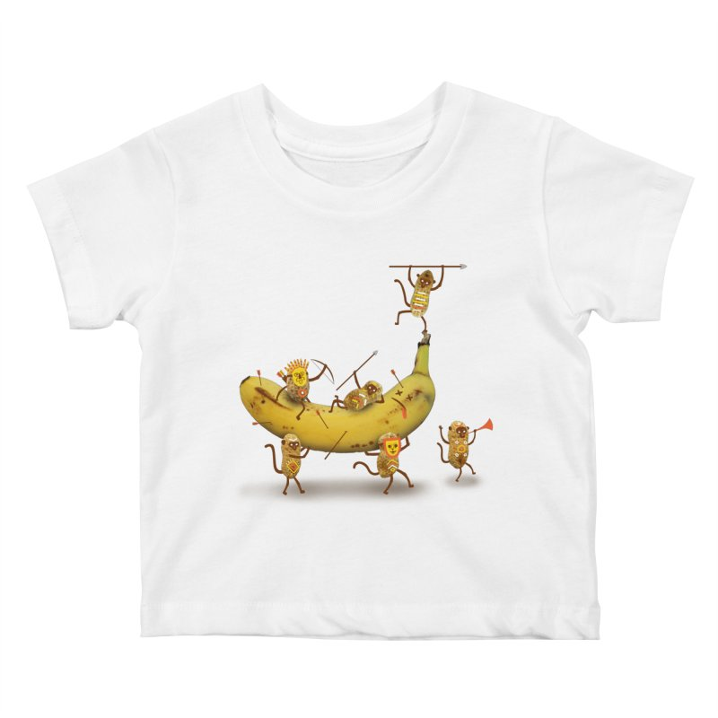 Nuts Kids Baby T-Shirt by wharton's Artist Shop