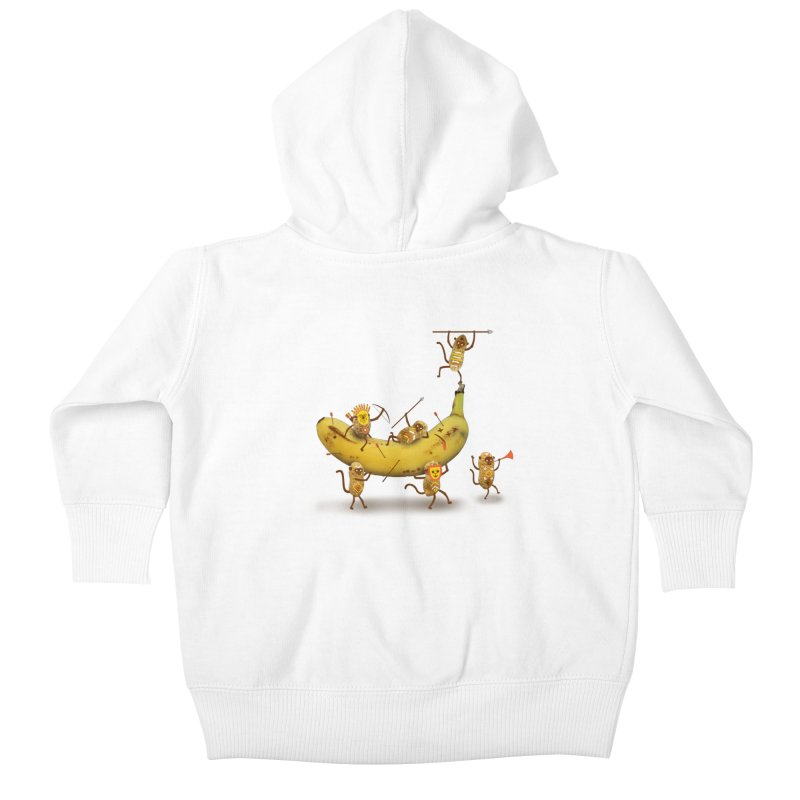 Nuts Kids Baby Zip-Up Hoody by wharton's Artist Shop