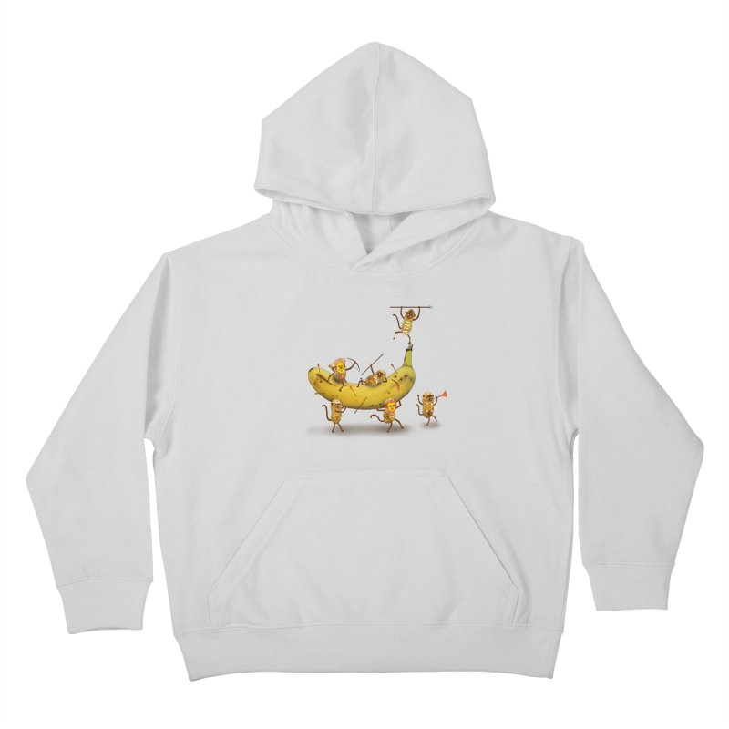 Nuts Kids Pullover Hoody by wharton's Artist Shop