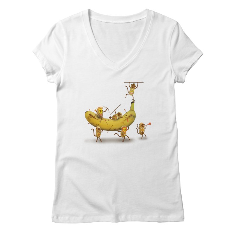 Nuts Women's V-Neck by wharton's Artist Shop