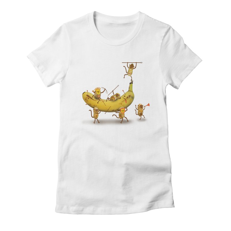 Nuts Women's Fitted T-Shirt by wharton's Artist Shop