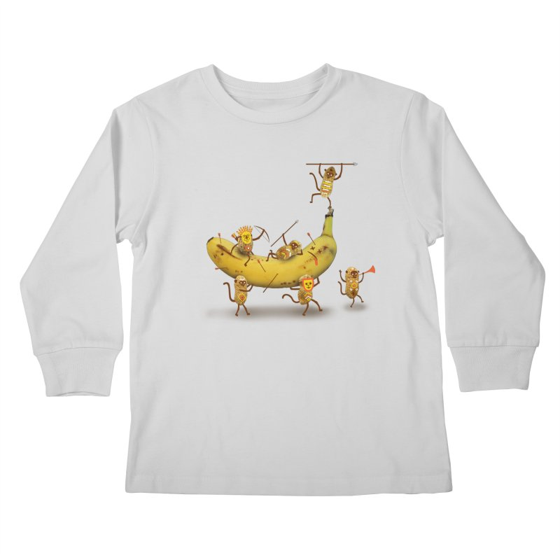 Nuts Kids Longsleeve T-Shirt by wharton's Artist Shop