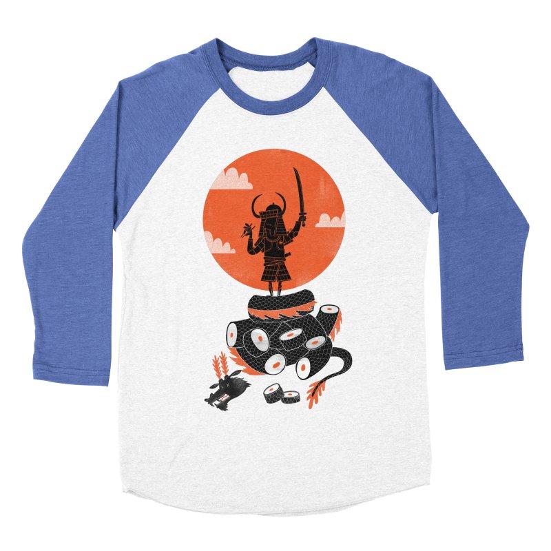 Samurai Sushi Men's Baseball Triblend T-Shirt by wharton's Artist Shop