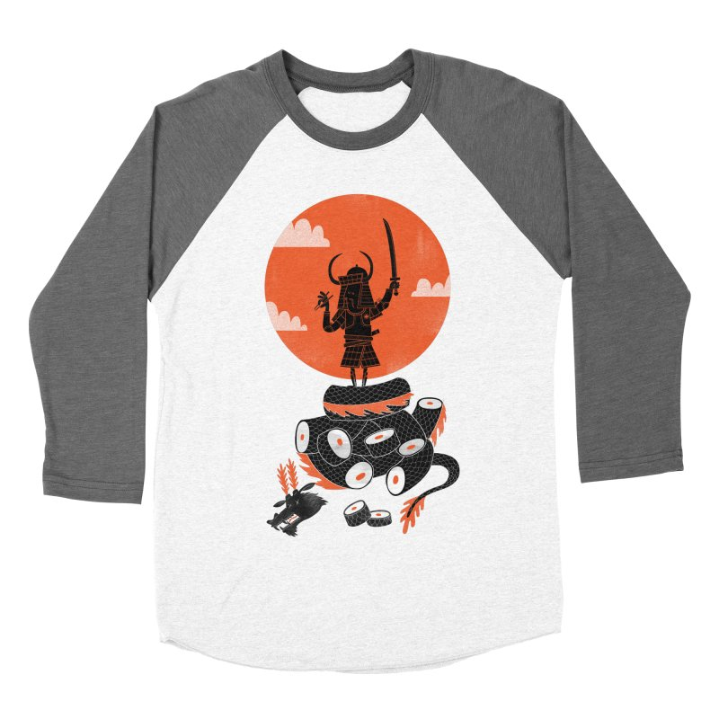 Samurai Sushi Men's Baseball Triblend T-Shirt by wharton's Artist Shop