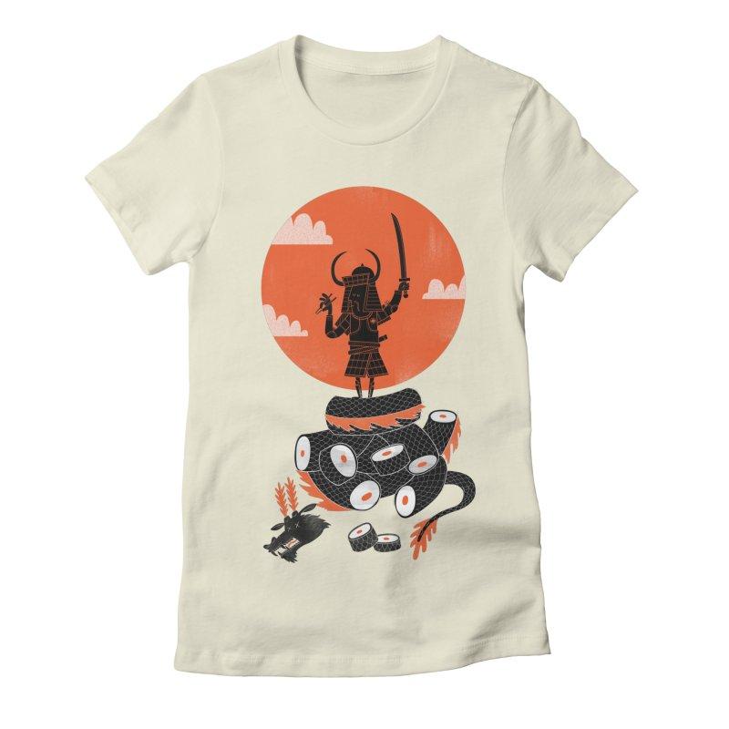 Samurai Sushi Women's Fitted T-Shirt by wharton's Artist Shop