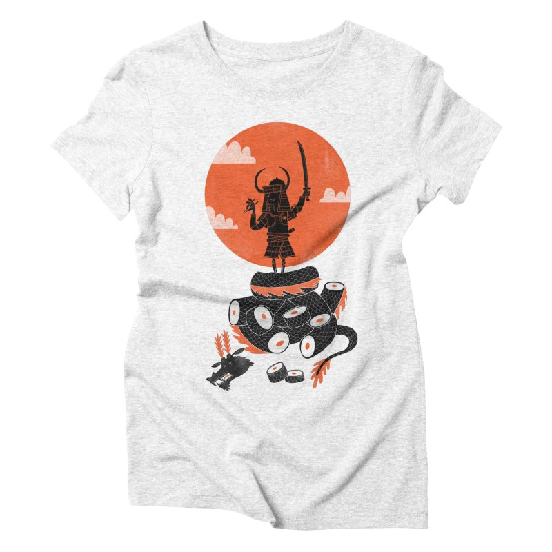 Samurai Sushi Women's Triblend T-shirt by wharton's Artist Shop