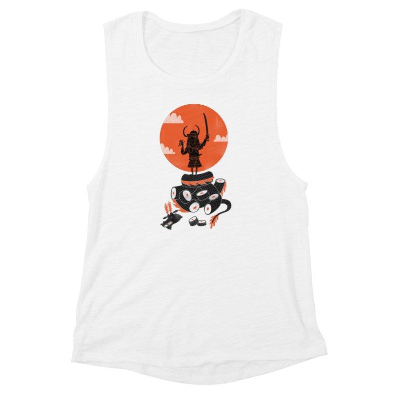 Samurai Sushi Women's Muscle Tank by wharton's Artist Shop