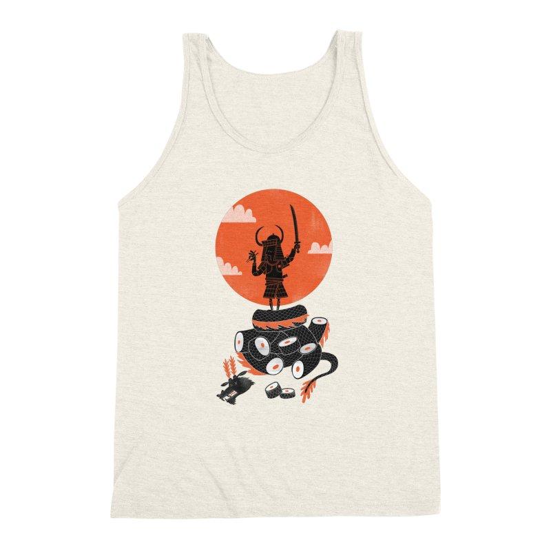 Samurai Sushi Men's Triblend Tank by wharton's Artist Shop