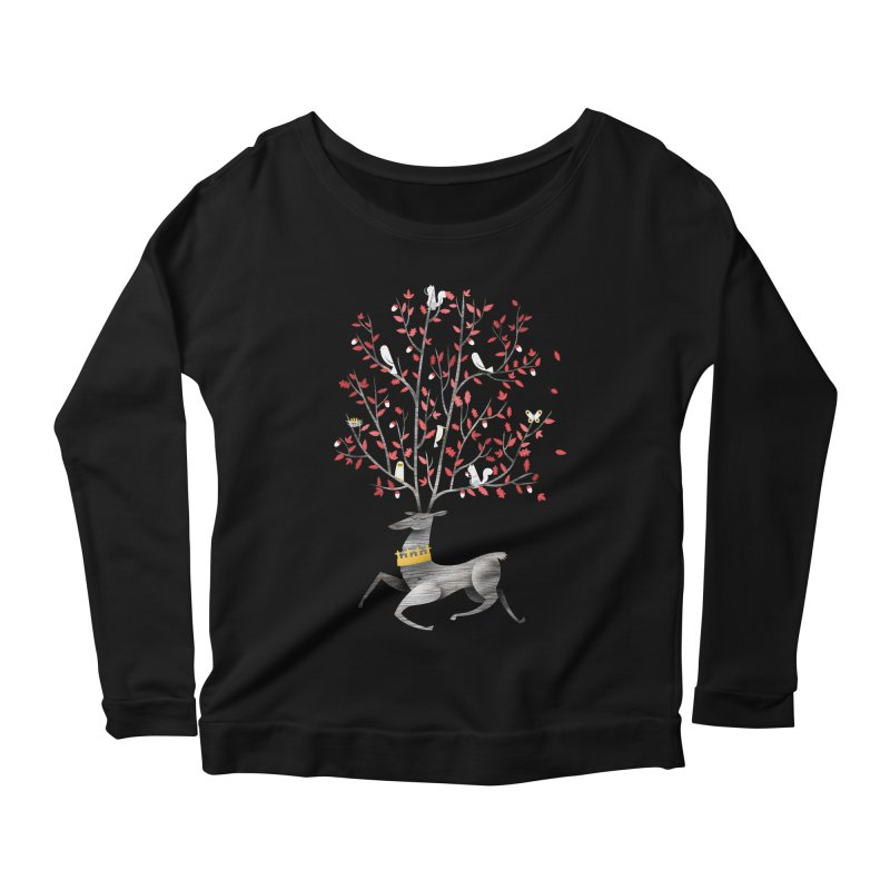 King of the Forest Women's Longsleeve Scoopneck  by wharton's Artist Shop