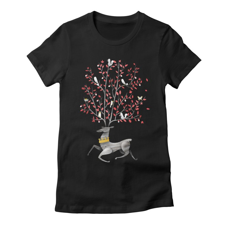 King of the Forest Women's Fitted T-Shirt by wharton's Artist Shop