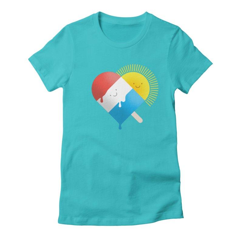 Summer Love Women's Fitted T-Shirt by wharton's Artist Shop