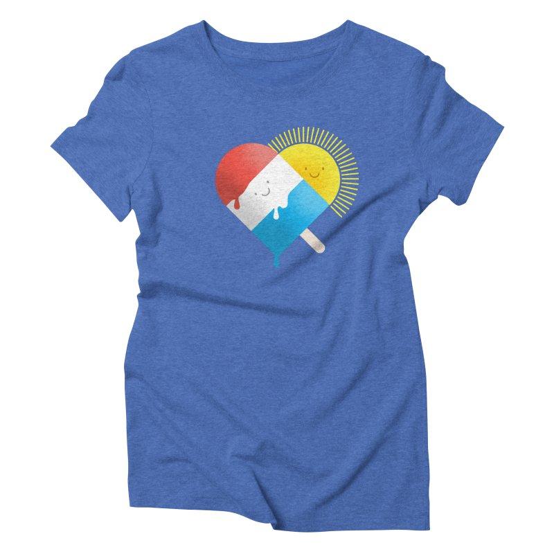 Summer Love Women's Triblend T-shirt by wharton's Artist Shop