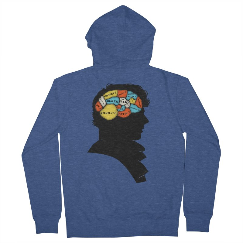 Sherlock Phrenology Women's Zip-Up Hoody by wharton's Artist Shop