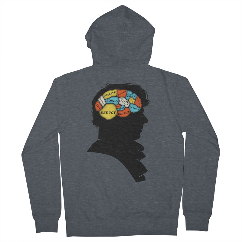 Sherlock Phrenology Men's Zip-Up Hoody by wharton's Artist Shop