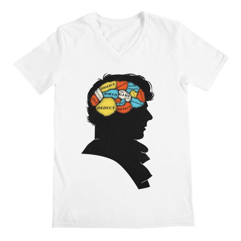 Sherlock Phrenology Men's V-Neck by wharton's Artist Shop