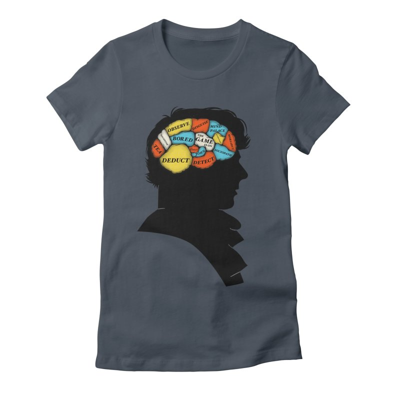 Sherlock Phrenology Women's Fitted T-Shirt by wharton's Artist Shop