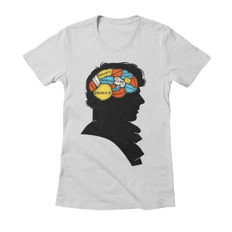 Sherlock Phrenology Women's Fitted T-Shirt by wharton's Artist Shop