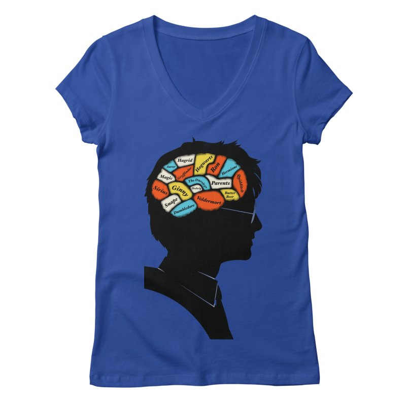 Harry Phrenology Women's Regular V-Neck by wharton's Artist Shop