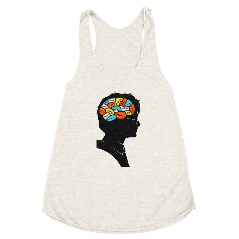 Harry Phrenology Women's Racerback Triblend Tank by wharton's Artist Shop