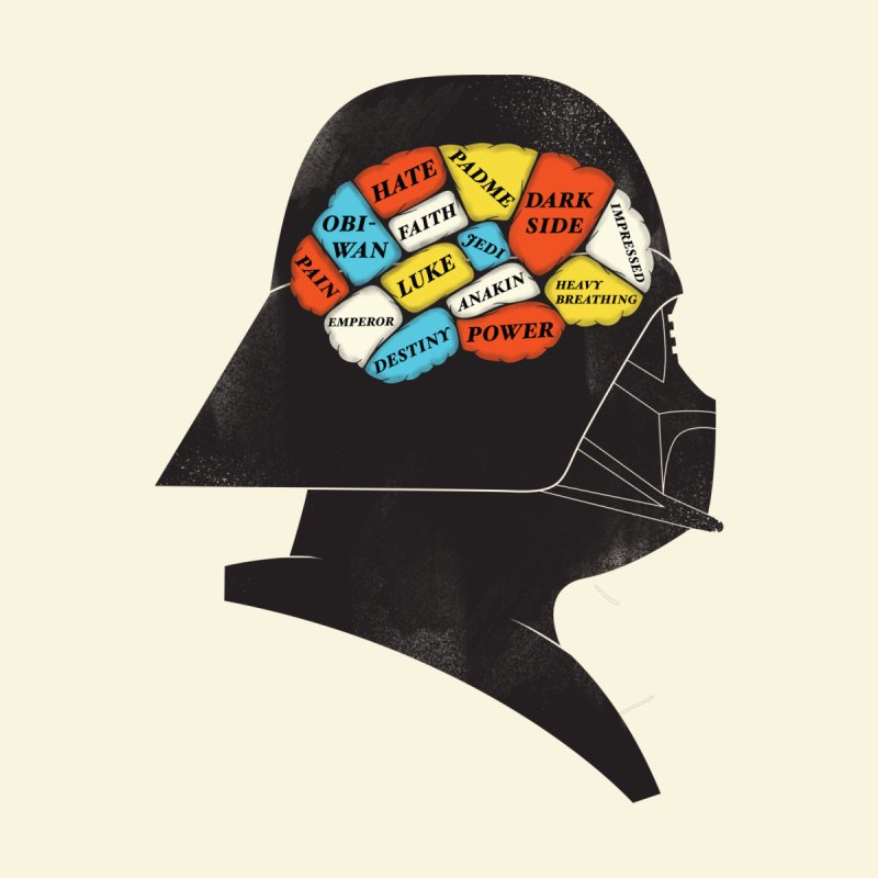 Darth Phrenology None  by wharton's Artist Shop
