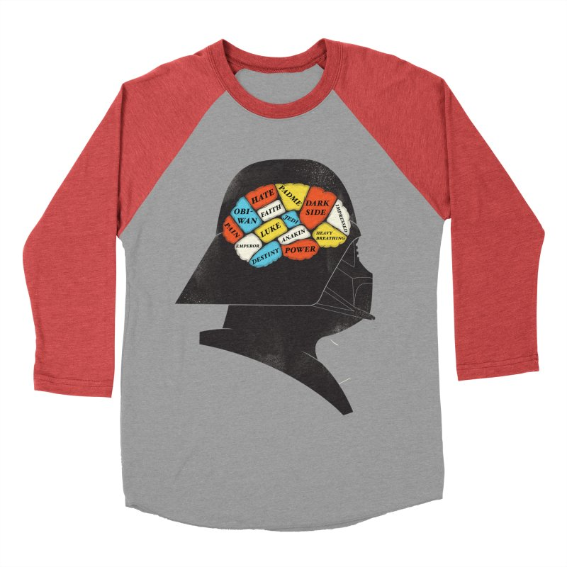 Darth Phrenology Men's Baseball Triblend T-Shirt by wharton's Artist Shop
