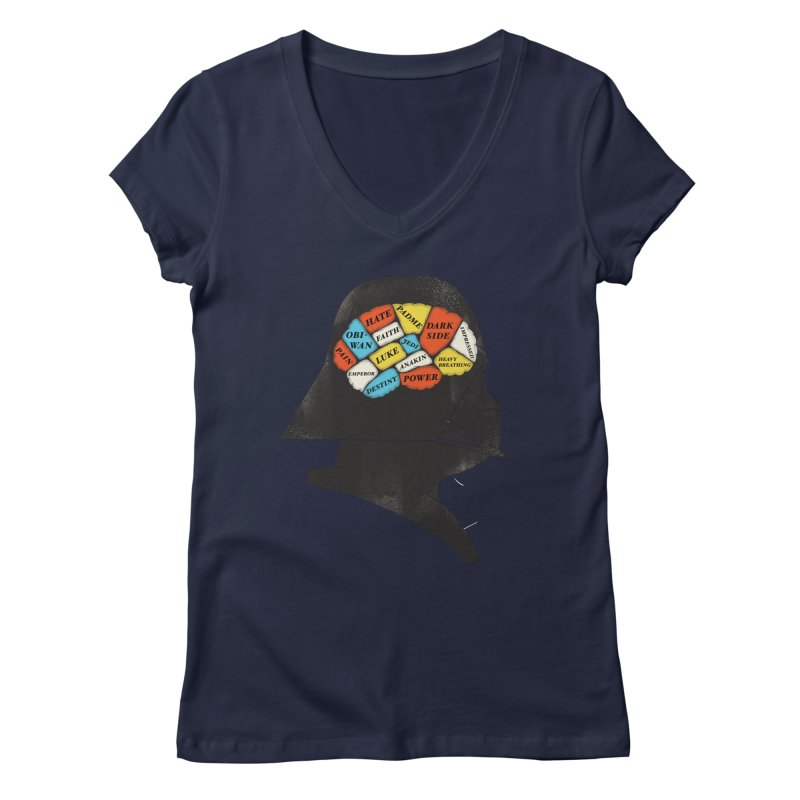 Darth Phrenology Women's Regular V-Neck by wharton's Artist Shop