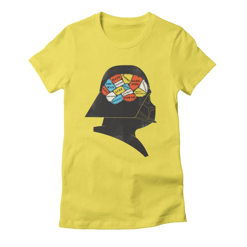 Darth Phrenology Women's Fitted T-Shirt by wharton's Artist Shop