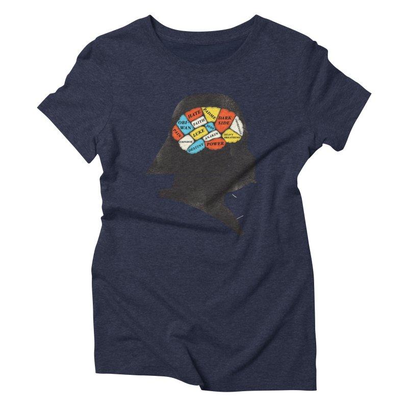Darth Phrenology Women's Triblend T-shirt by wharton's Artist Shop