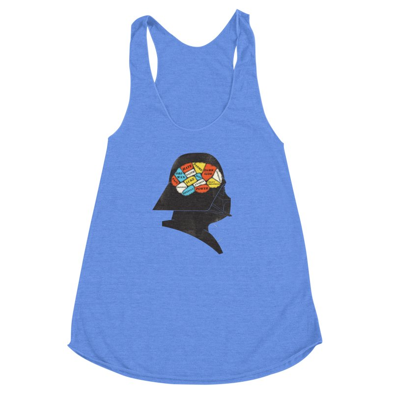 Darth Phrenology Women's Racerback Triblend Tank by wharton's Artist Shop