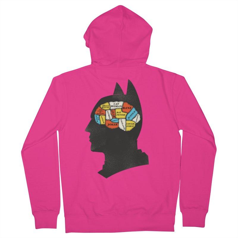 Batman Phrenology Men's Zip-Up Hoody by wharton's Artist Shop