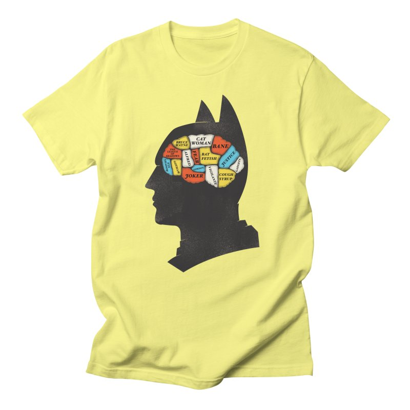 Batman Phrenology Men's T-Shirt by wharton's Artist Shop