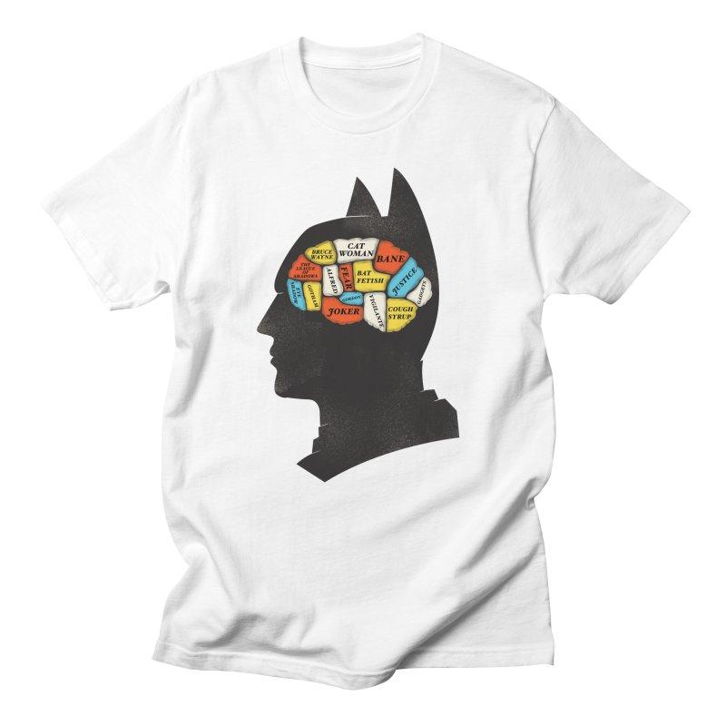 Batman Phrenology Men's T-Shirt by wharton's Artist Shop