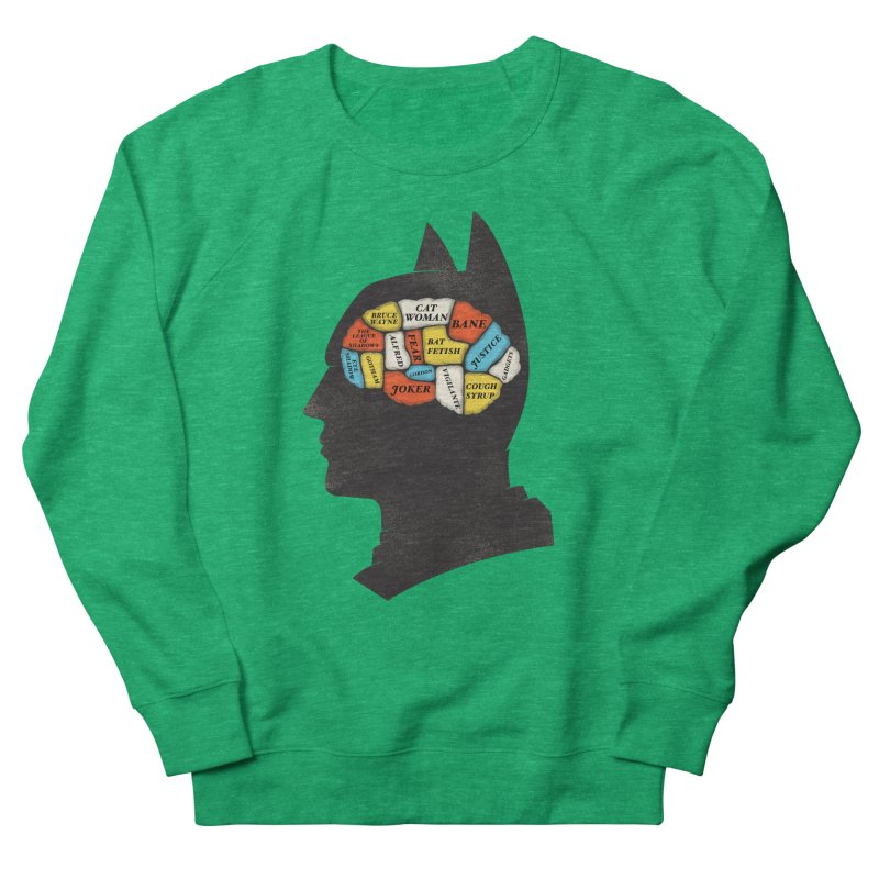 Batman Phrenology Men's Sweatshirt by wharton's Artist Shop