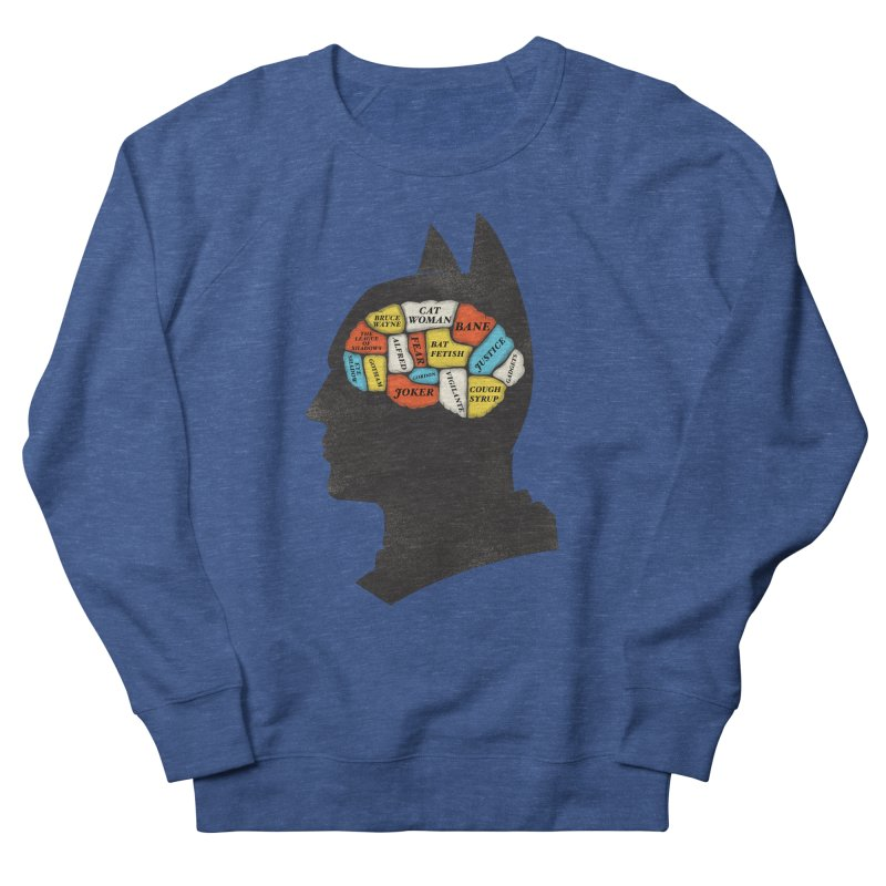 Batman Phrenology Men's French Terry Sweatshirt by wharton's Artist Shop