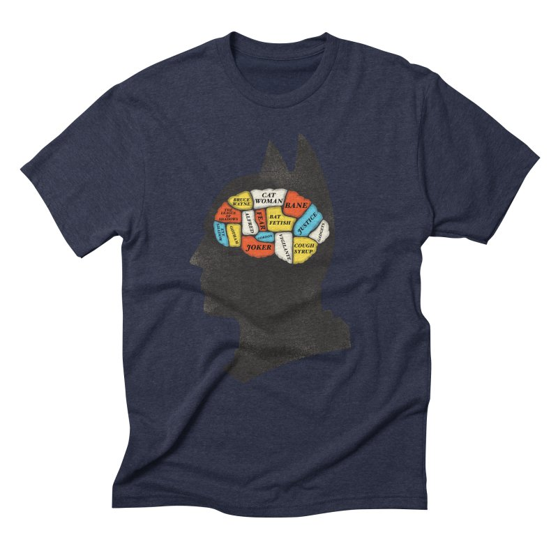 Batman Phrenology Men's Triblend T-Shirt by wharton's Artist Shop