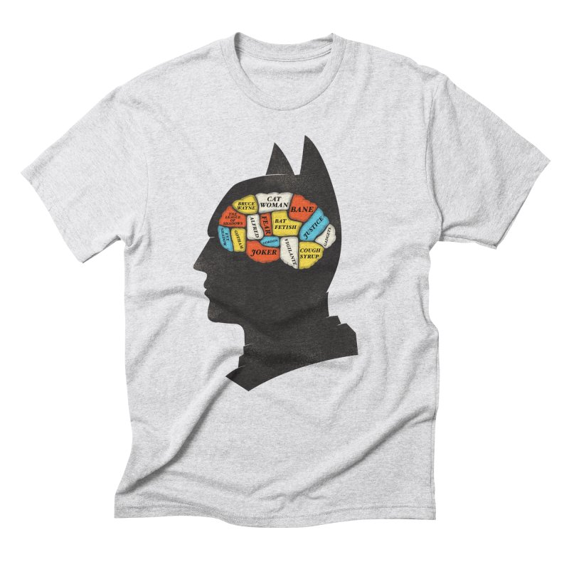 Batman Phrenology Men's Triblend T-Shirt by wharton's Artist Shop