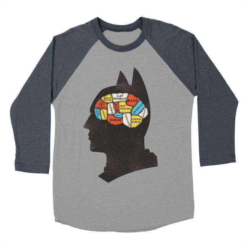 Batman Phrenology Men's Baseball Triblend T-Shirt by wharton's Artist Shop