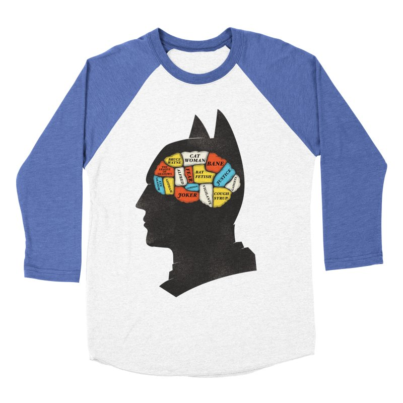 Batman Phrenology Men's Baseball Triblend T-Shirt by wharton's Artist Shop