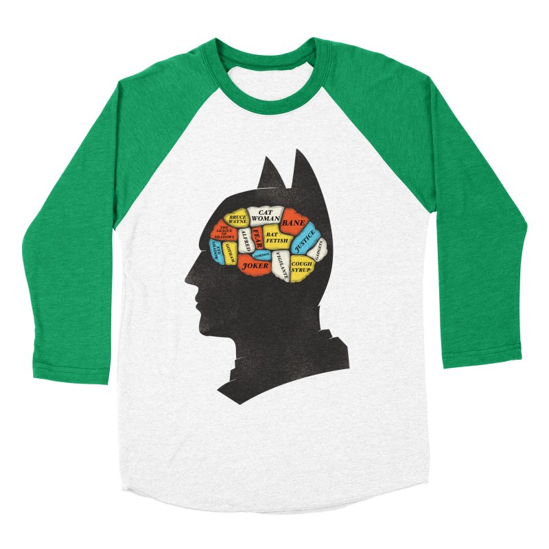 Batman Phrenology Men's Baseball Triblend Longsleeve T-Shirt by wharton's Artist Shop