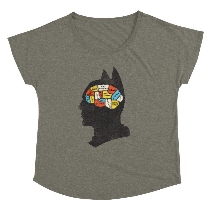 Batman Phrenology Women's Dolman by wharton's Artist Shop