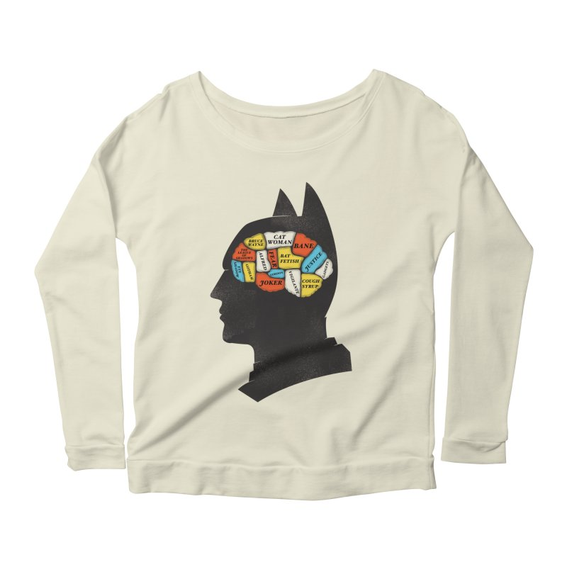 Batman Phrenology Women's Longsleeve Scoopneck  by wharton's Artist Shop