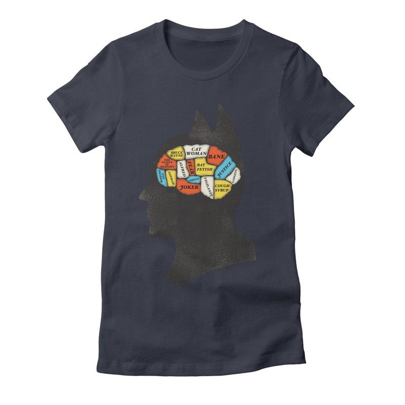 Batman Phrenology Women's Fitted T-Shirt by wharton's Artist Shop