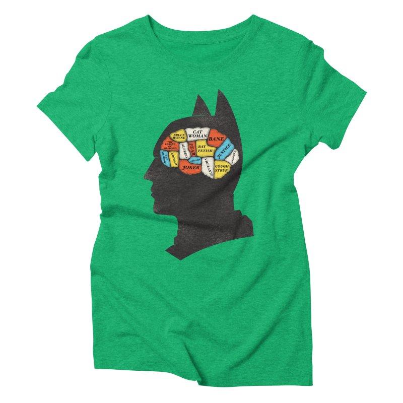 Batman Phrenology Women's Triblend T-shirt by wharton's Artist Shop