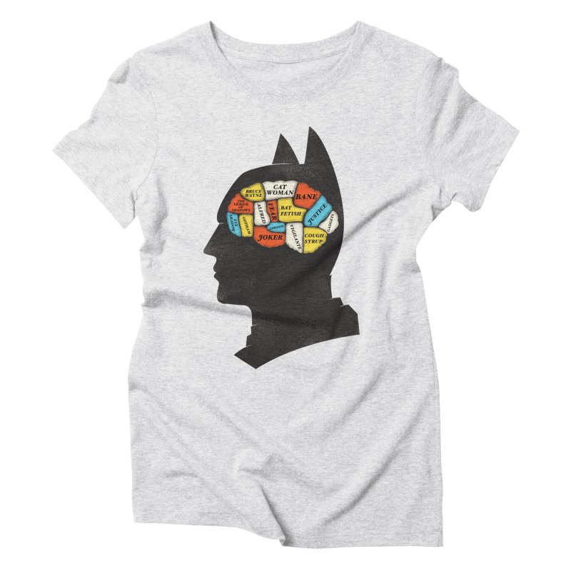 Batman Phrenology Women's Triblend T-Shirt by wharton's Artist Shop